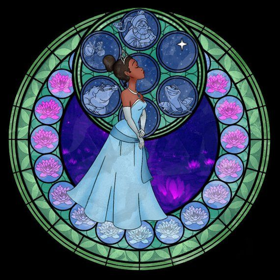DISNEY THE PRINCESS AND THE FROG TIANA STAINED GLASS iphone case