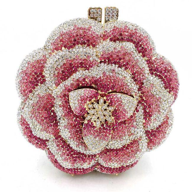 Blossom Crystal Clutch Bag Bridal Clutch Bag Bridal Clutch