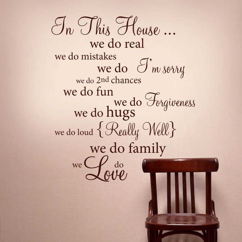 IN THIS HOUSE Wall Words Vinyl Decal Rules Quote   Wall Decor Lettering Art Idea