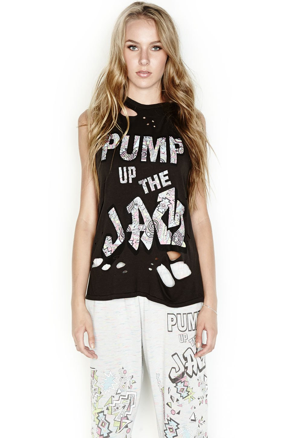 995c00539bb8 Roxanne Pump Up The Jam Vintage Muscle Tee | Products | Muscle tees ...