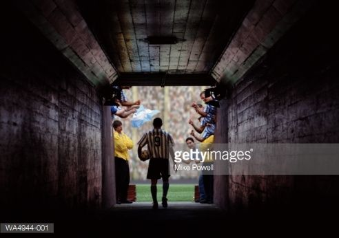 Soccer Player Walking Through Tunnel Entrance To Stadium Soccer Players Soccer Stadium Soccer