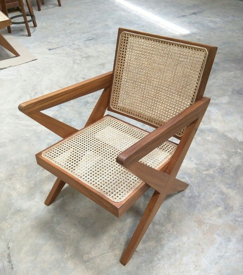 Cross Easy Chair, Pierre Jeanneret Design And Reproduced By Phantom Hands.  #burmateak #