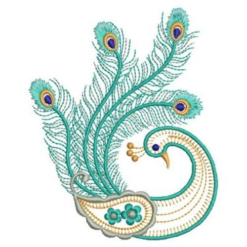 Peacock Machine Embroidery | Embroidery Ideas | Pinterest