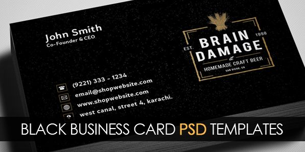 Free vintage black business card psd template free psd files free vintage black business card psd template wajeb Images