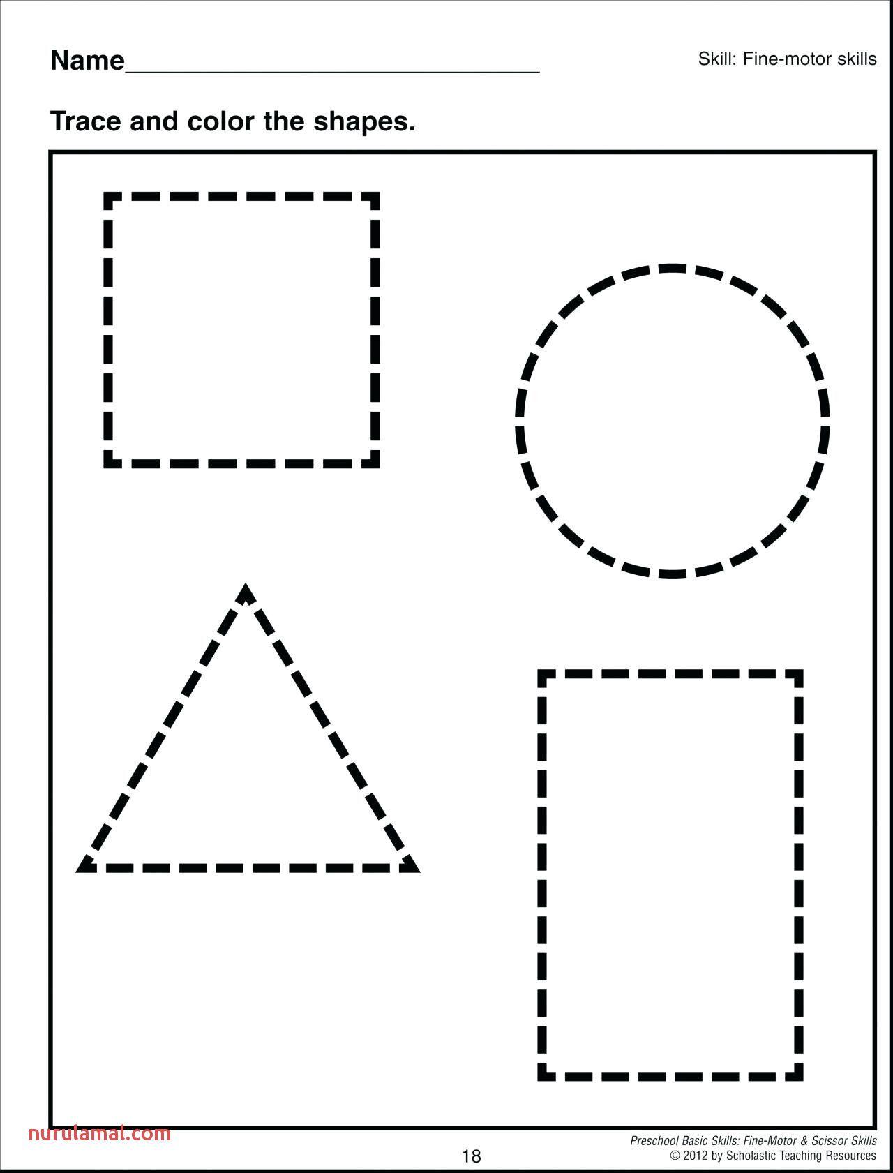 Printable Shapes Worksheet In