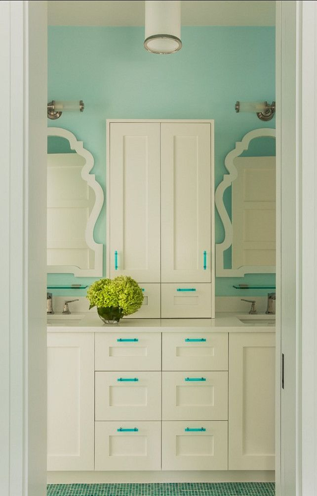 Mirrors Are By Queen Anne Mirror Jonathan Adler Paint Blue Angel 2058 70 Bm Color Is Benjamin Moore In Eggshell