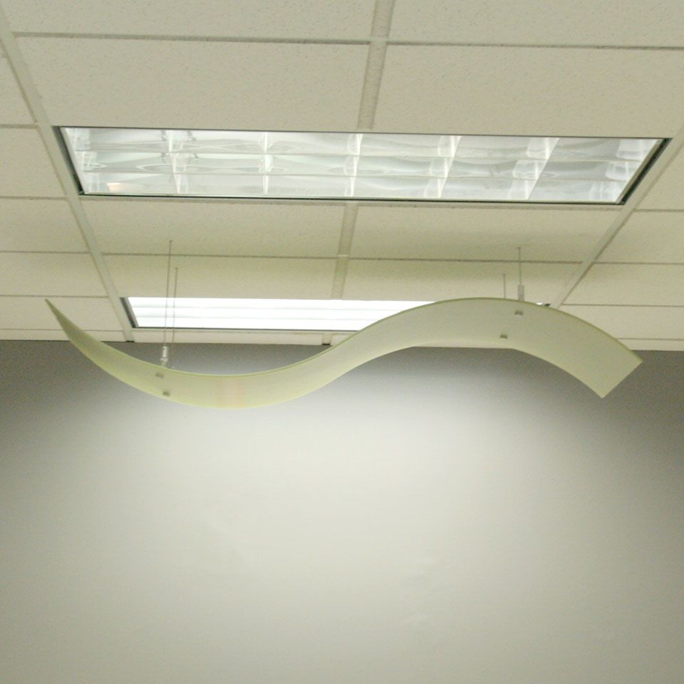 Lumicor ceiling panels are made in both wave and arc shapes and ...