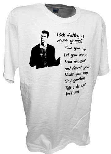 Mens Rick Astley Rickrol Rickrolled Funny T Shrit By Achtung T Shirt LLC Achtung T Shirt LLC,http://www.amazon.com/dp/B00990AGS8/ref=cm_sw_r_pi_dp_YdCErb0ZRR4D5GCY
