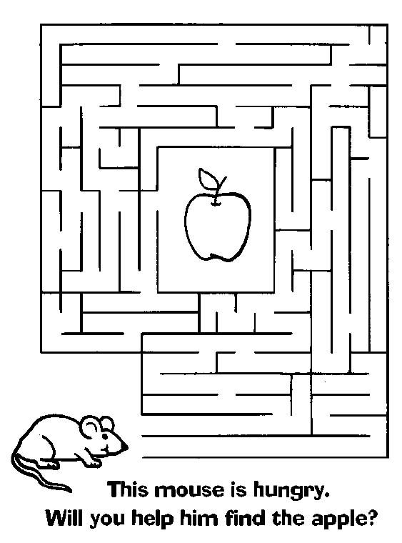 Clean image for printable mazes for kids
