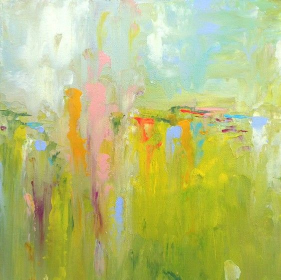 Abstract Landscape Painting 'GOING FOR GOLD' by Sally Kelly