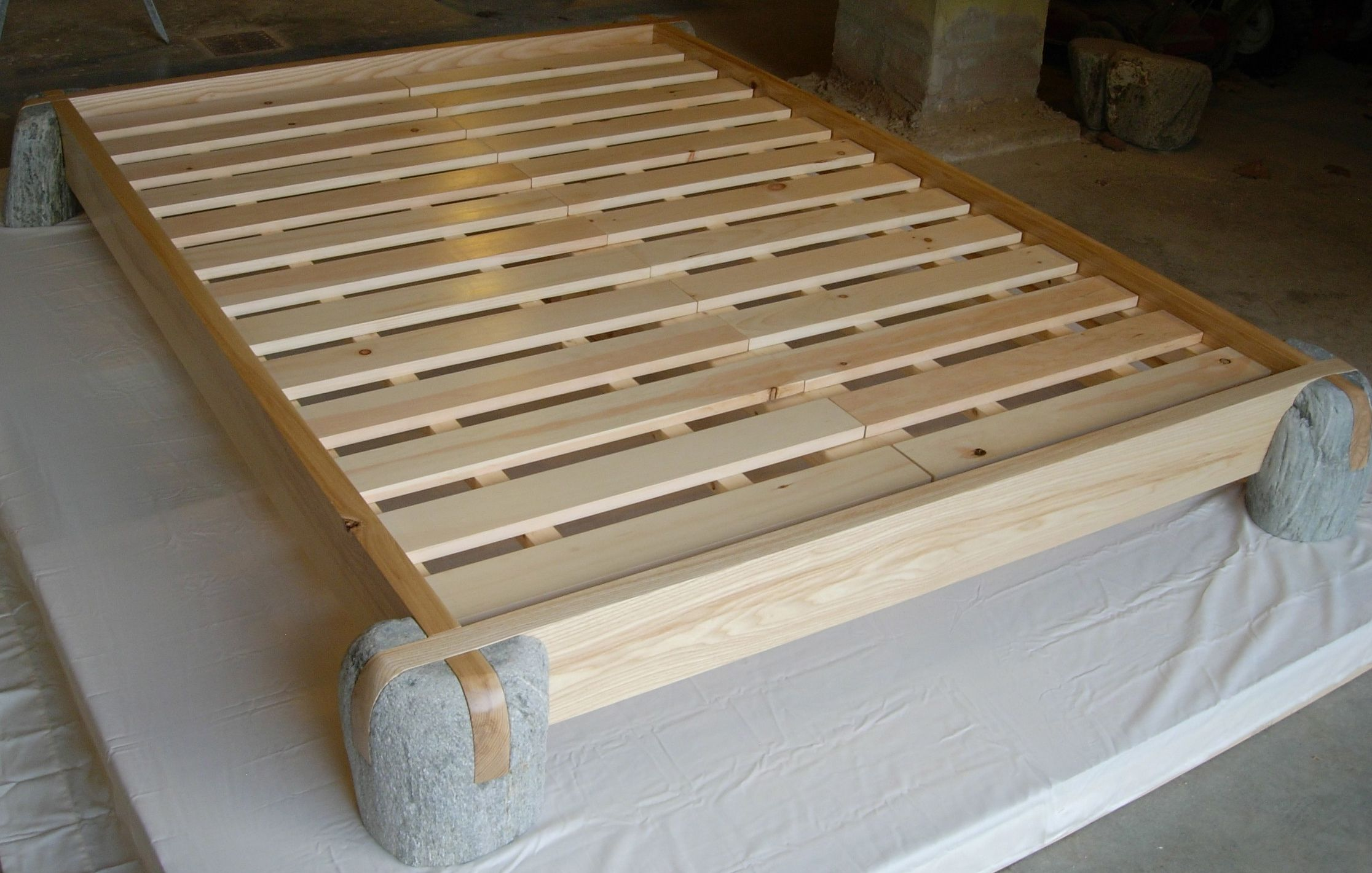 JapaneseStyle Platform Bed Простой декор, Кровати