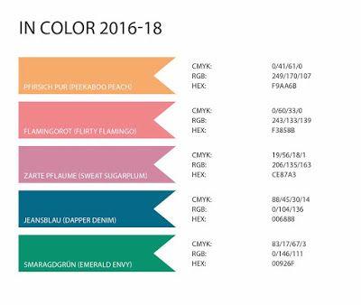 Stampin\' Up! Farbwerttabelle 2016 mit RGB-, CMYK- und HEX-Codes ...