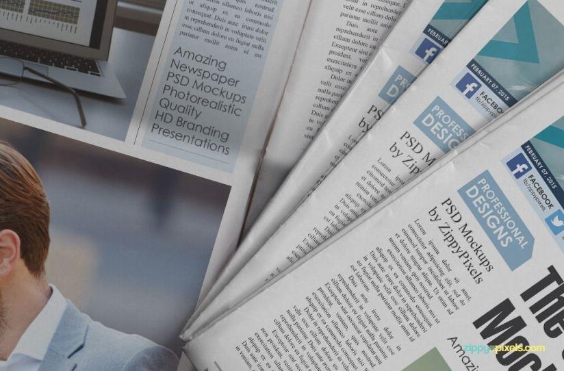 Free Beautiful Newspaper Ad Psd Mockup Mockup Newspaper And Ads