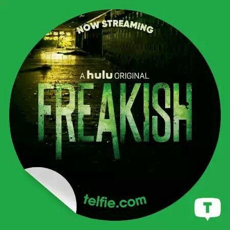 Hulu Freakish FreakishonHulu Telfie Sticker
