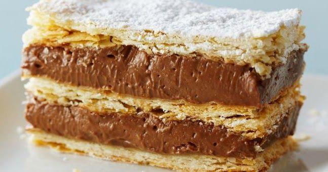 Tarta Napoleón de Chocolate