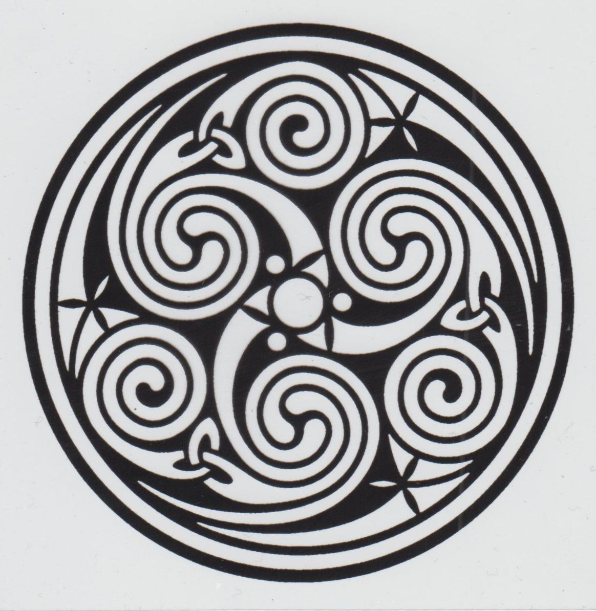 Celtic symbol for fire galleryhip the hippest galleries celtic circle triskelion symbol perfect for a circular saw blade buycottarizona Images