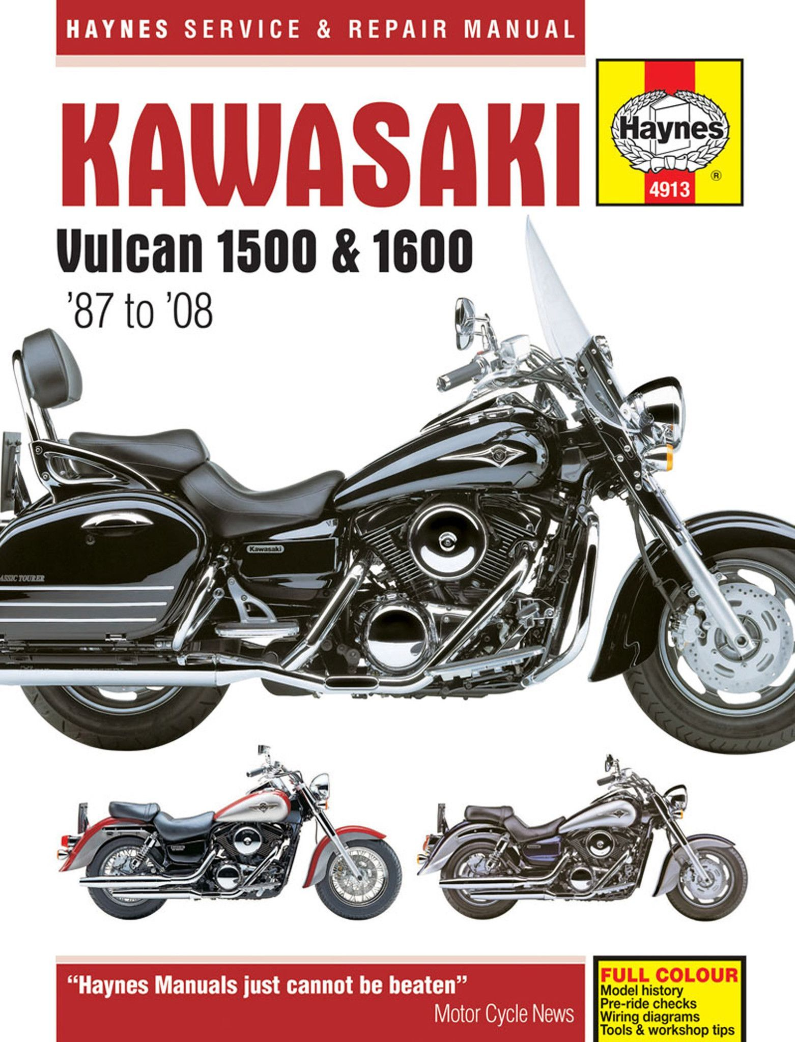 haynes m4913 service repair manual for kawasaki vulcan 1500 and rh pinterest com 2009 Kawasaki 1700 Nomad 2014 Kawasaki Vulcan