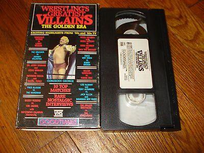 WRESTLINGS+GREATEST+VILLAINS+THE+GOLDEN+ERA+VHS+VIDEO+WWE+WWF+WCW