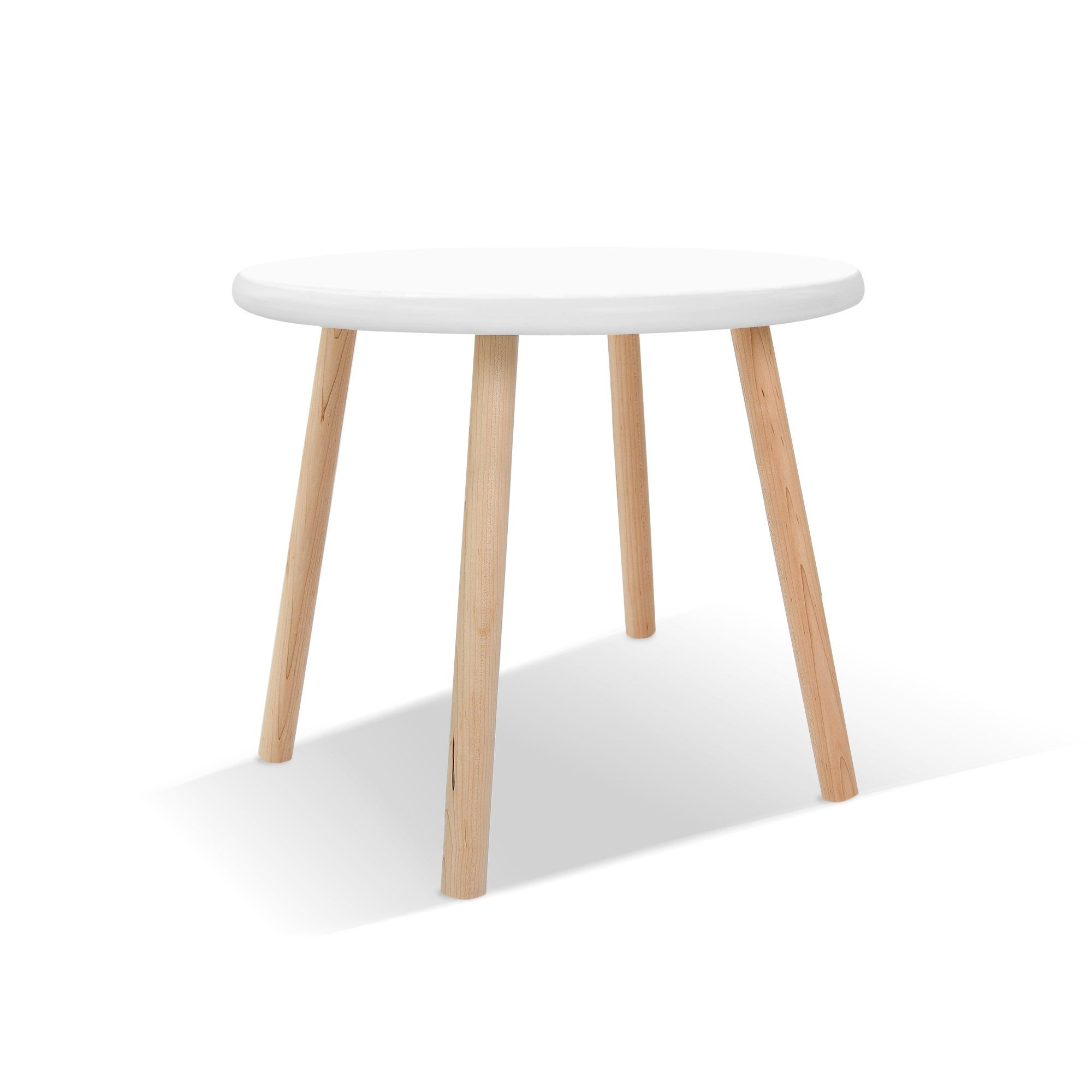 Peewee Kids Table Maple In 2020 Round Kids Table Kid Table