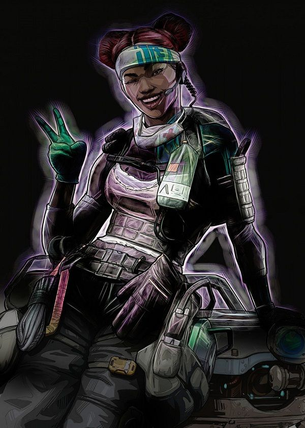 """Apex Legends Outer Glow Characters Lifeline #Displate explore Pinterest""""> #Displate artwork by artist """"Negros… 