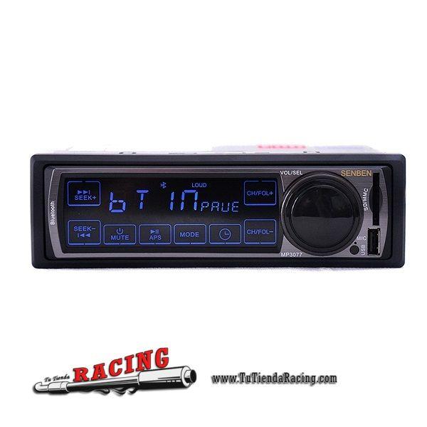 Radio para Coche con Función Bluetooth 1-Din Stereo MP3 USB/SD AUX con Mando a Distancia -- 49,10€ Envío gratuito a toda España