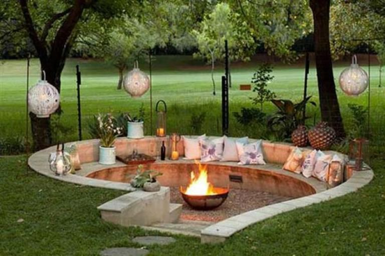 Admirable Sunken Fire Pit Ideas To Steal For Cozy Nights Page 17 Of 17 Diy Outdoor Fireplace Outdoor Fire Pit Designs Backyard Seating