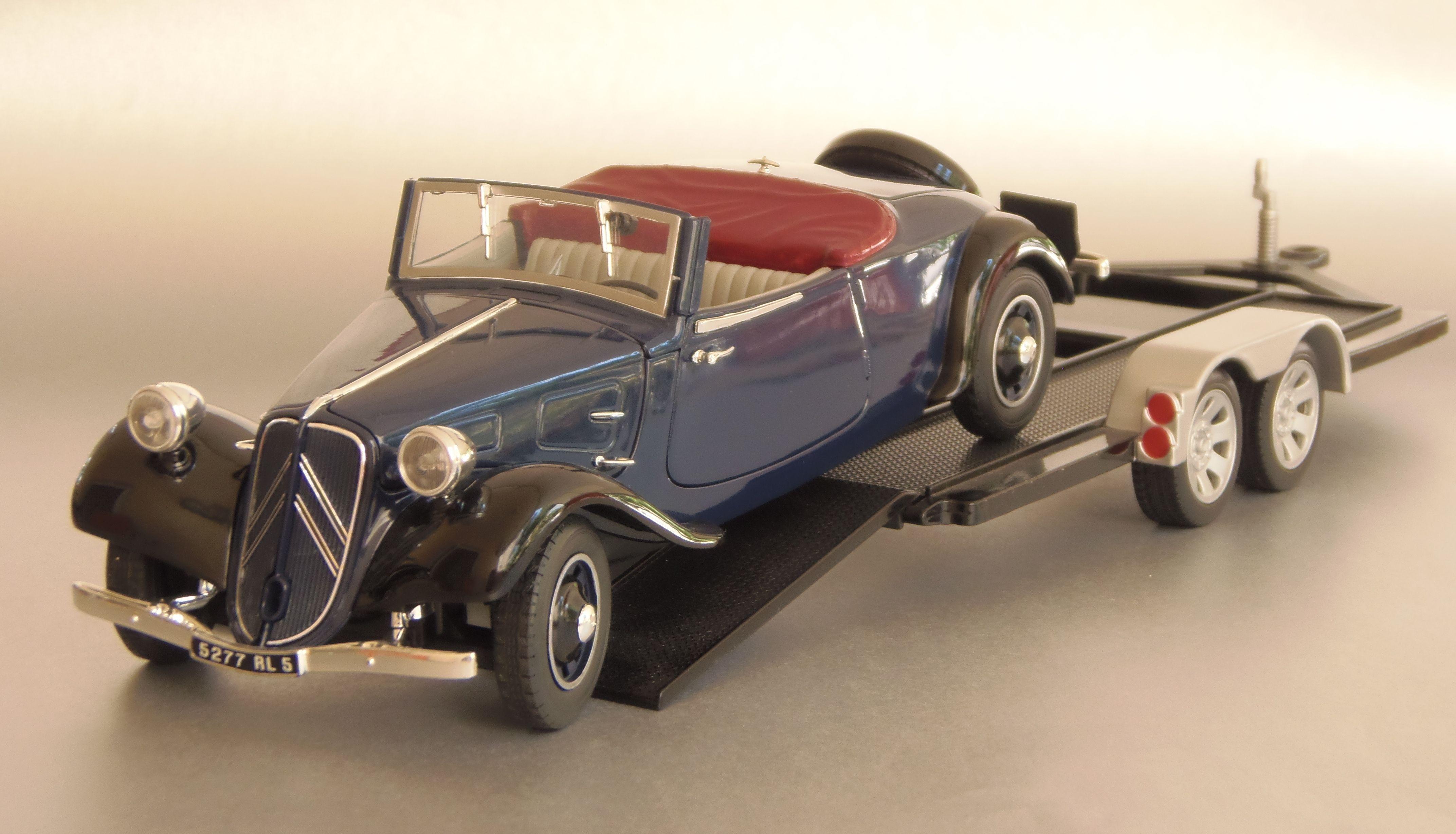 1938 Citroen Traction Type 11CV Cabriolet on Trailer