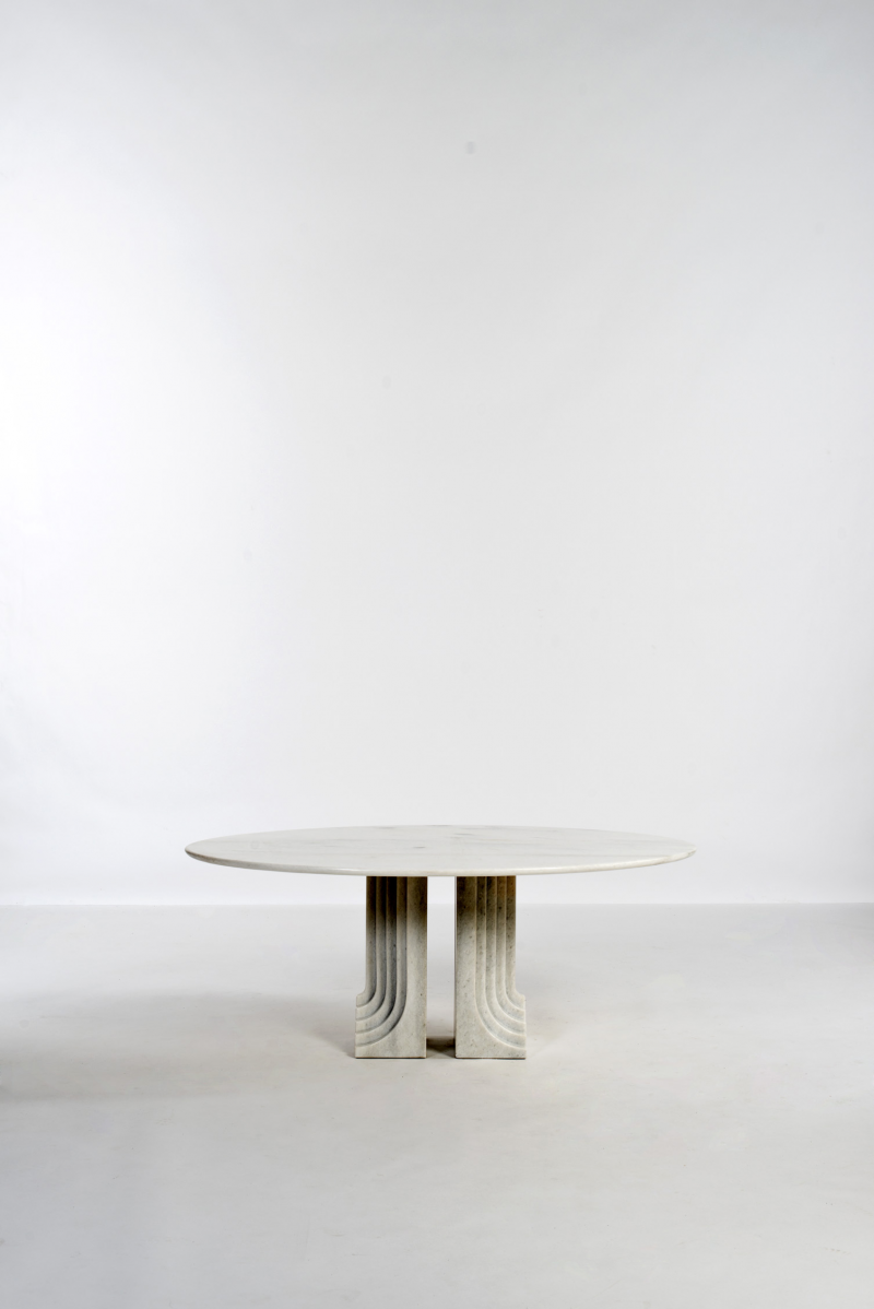 Important and Rare Marble 'SAMO' Dining Table by Carlo Scarpa