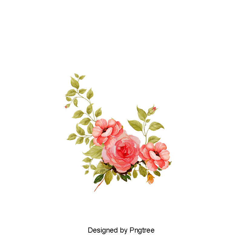 Flowers Vector Material, Green, Flower PNG Transparent