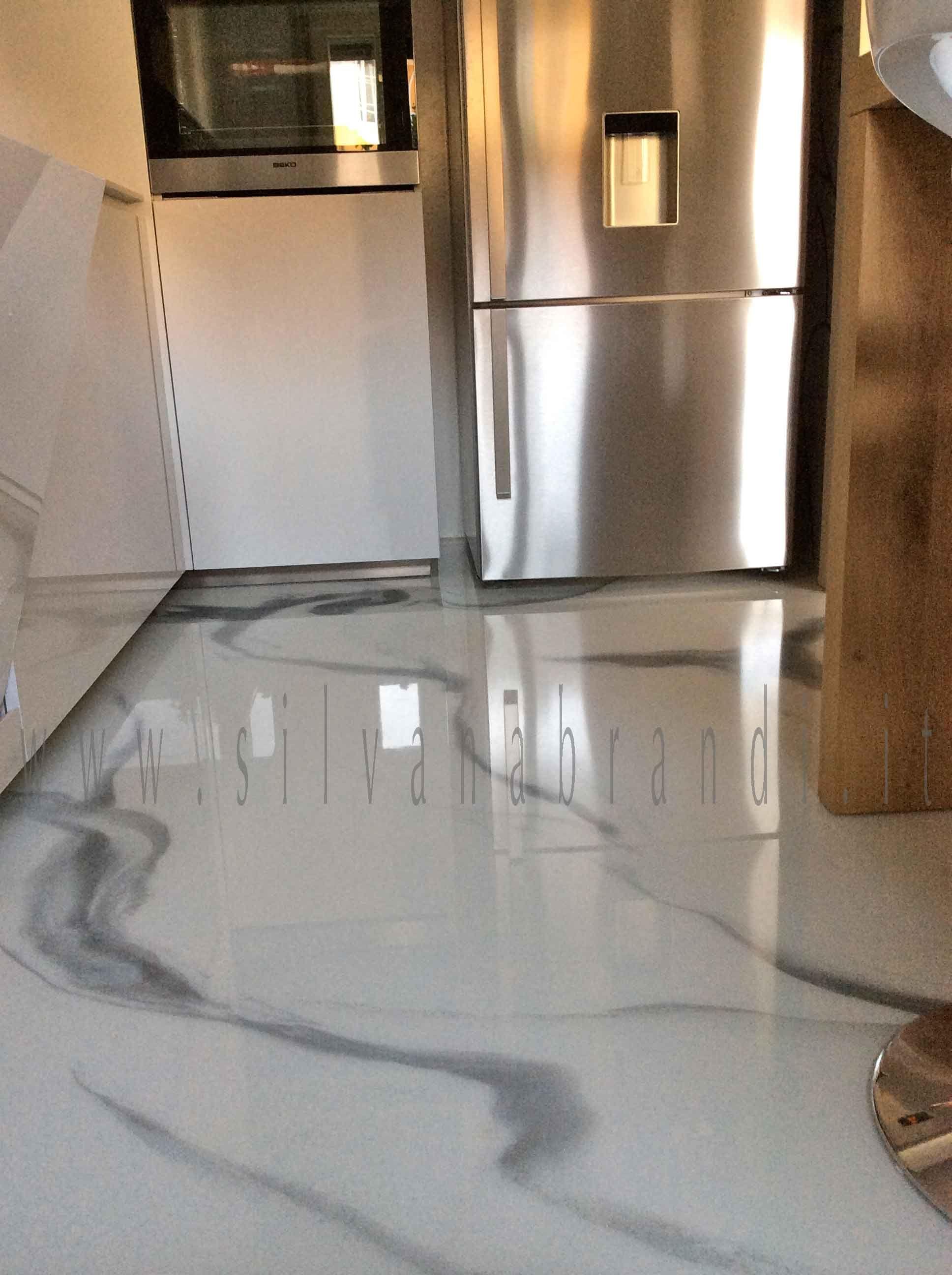 Rivestimento cucina in resina decorata effetto marmo silvana brandi resina pinterest - Silvana in cucina ...