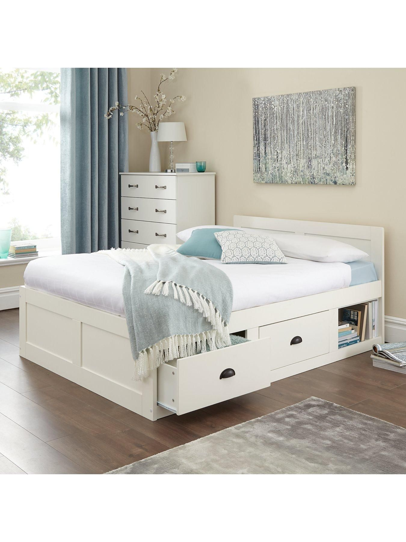 fc331e50aa36 Petra Oak King Size Bed Frame With 2 Drawers | home sweet home | Bed ...