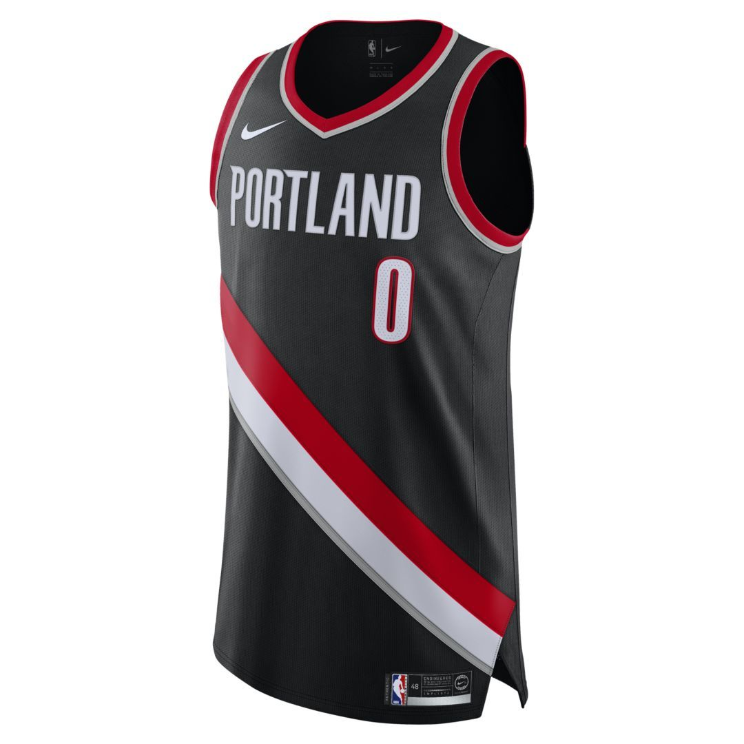 brand new f5d09 dc593 Damian Lillard Icon Edition Authentic (Portland Trail ...