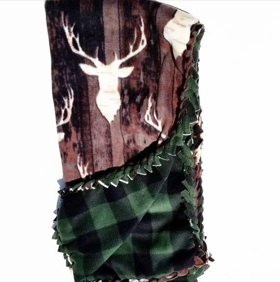 Deer Fleece Blanket No Sew Blanket No Sew Fleece Kit Baby Blanket