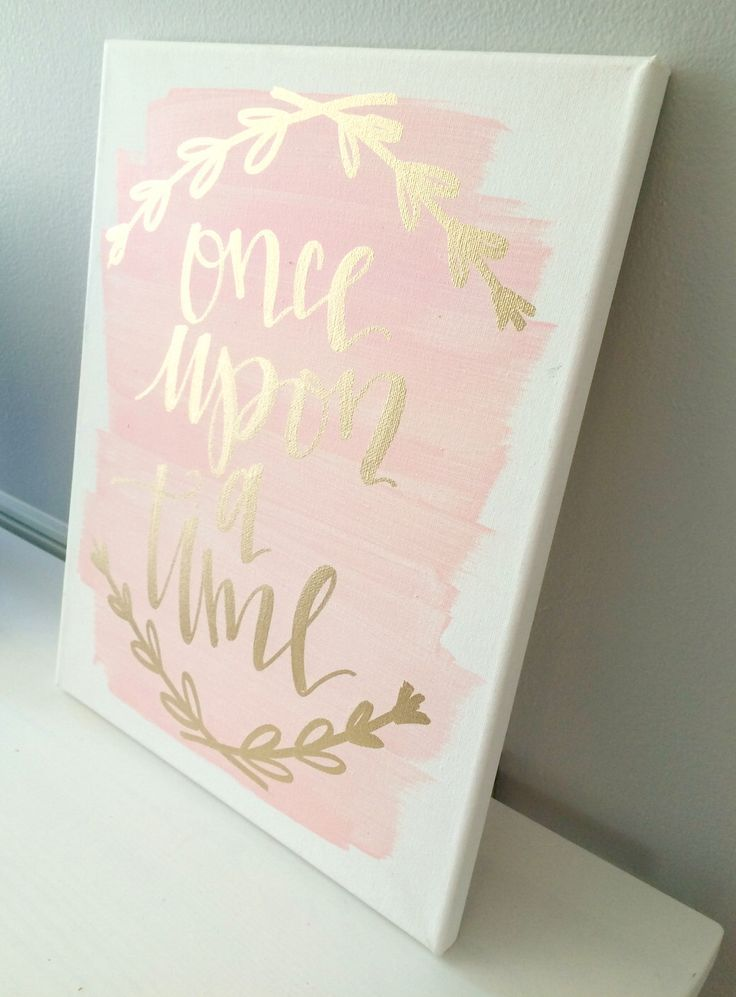 Once upon a time  11x14 canvas sign  wedding decor  girls room decor. Once upon a time  11x14 canvas sign  wedding decor  girls room
