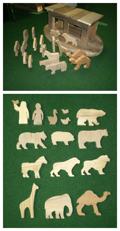 Noah S Ark And Animals From Recycled Pallet Wood Wood Pallets Recycled Pallet Wood Toys