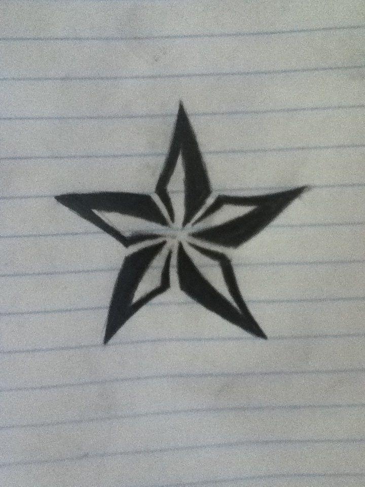 Tribal Star Tattoo Tribal Nautical Star Tattoo Pic 16 Nautical Star Tattoos Star Tattoos Nautical Star