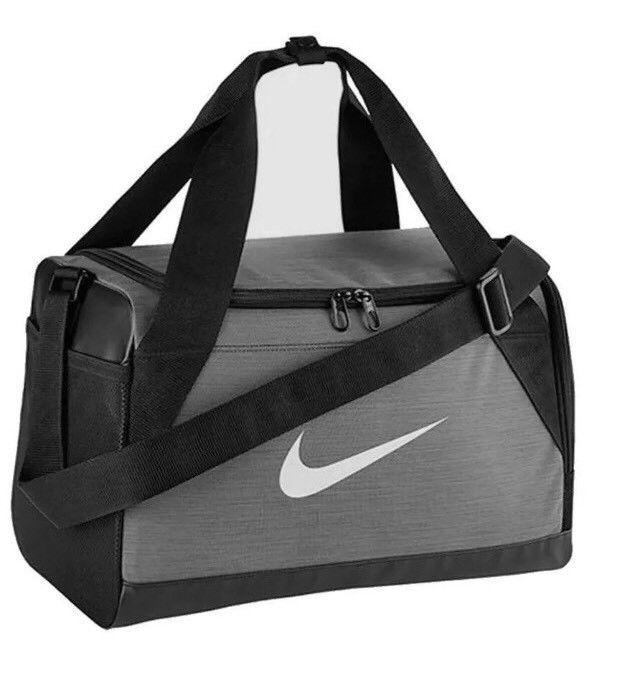 2d631e5b0da5 Nike Brasilia XS Gym Training Duffel Bag GRAY BLACK WHITE BA5432 064 NWT   fashion