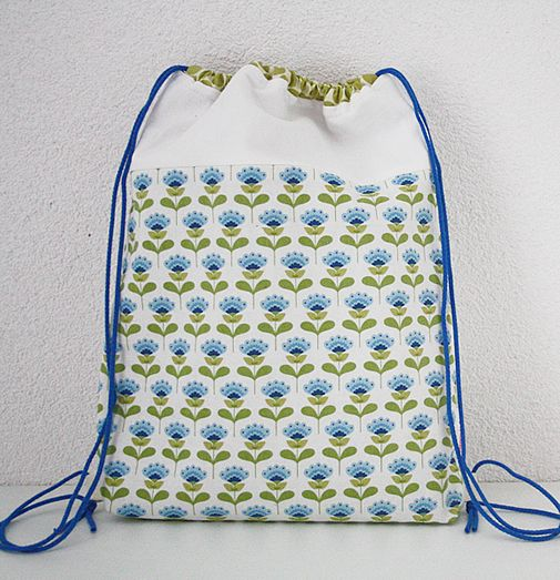 Free sewing pattern: drawstring backpack for kids | Beutel ...
