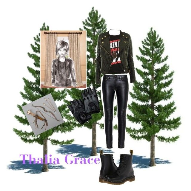 """Thalia Grace"" by daughter-of-poseidon1 ❤ liked on Polyvore featuring EFF, Grace, Monique Péan, CO, Yves Saint Laurent and Dr. Martens"