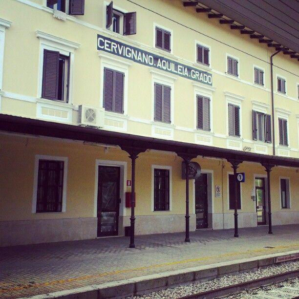 Der Bahnhof in Cervignano - von hier ist man in knapp 1 1/2 Stunden mit dem Zug in Venedig.