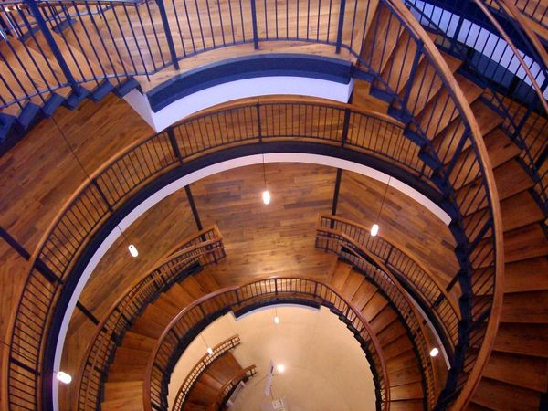 newly renovated staircase |  the Octagon House of Watertown (WIsconsin, USA)