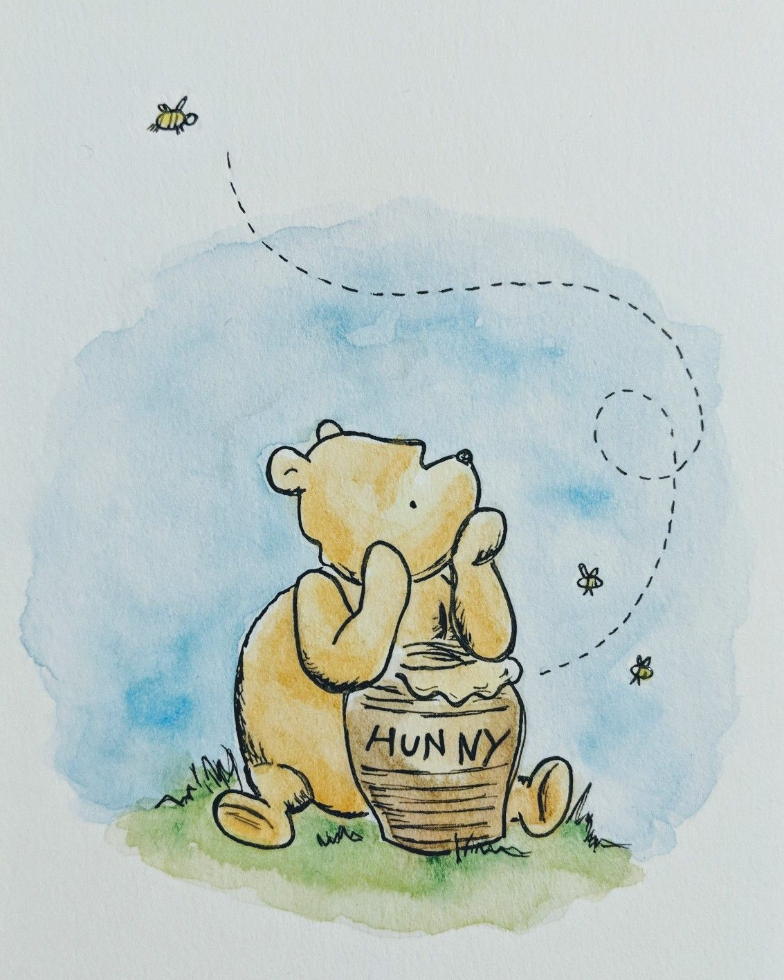 b4c1a153b Replication of Classic Winnie the Pooh Watercolor Ilustration ...