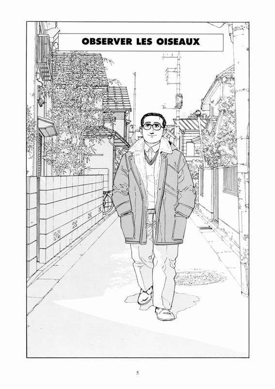 p. 5 L'homme qui marche by Jirô Taniguchi. Réédition 2015