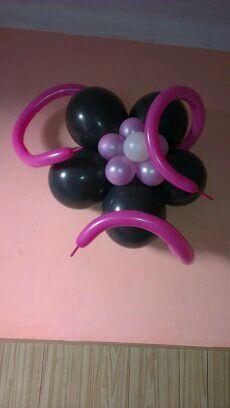 Decoracion con telas y globos