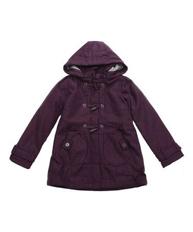 Another great find on #zulily! Purple Toggle Duffel Coat - Toddler & Girls #zulilyfinds