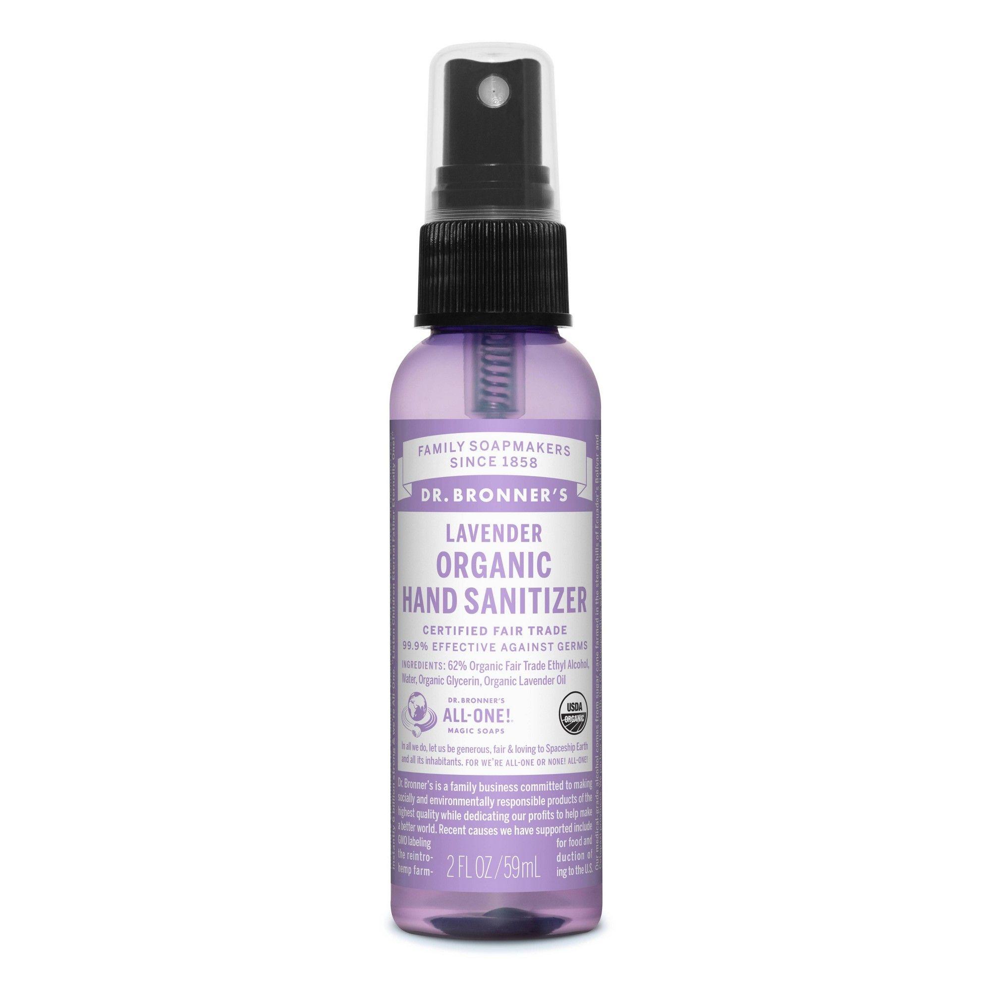 Dr Bronner S Lavender Hand Sanitizer 2 Fl Oz Hand Sanitizer