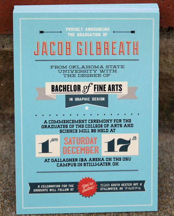 graduation announcement by jacob gilbreath designs we love