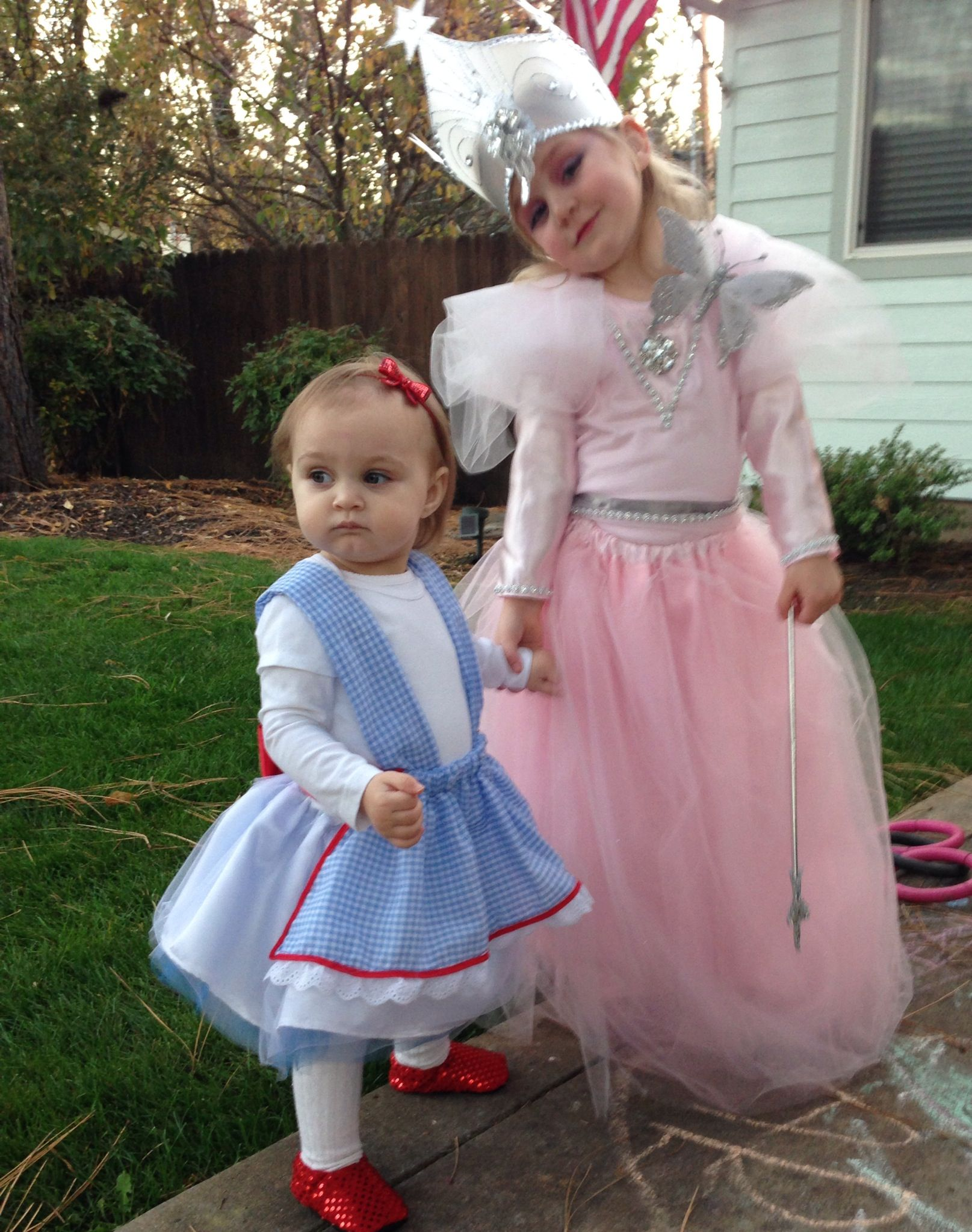 Homemade Dorothy and Glinda The Good Witch halloween costume ...