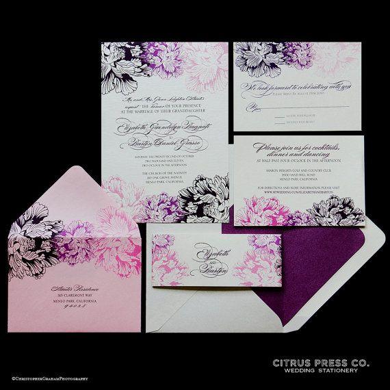 Chrysanthemum Wedding Invitation/ DIY PDF by CitrusPressCo on Etsy