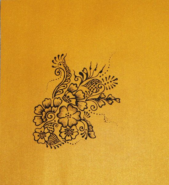 Items similar to A Bouquet of Flowers - Henna Painting - 8 x 10 on Etsy